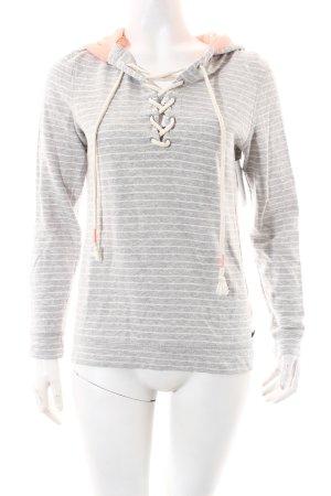 Roxy Sweatshirt hellgrau-weiß Casual-Look