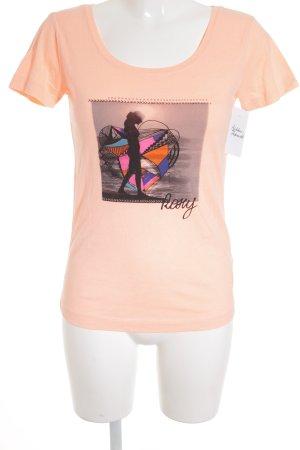 Roxy T-Shirt apricot platzierter Druck sportlicher Stil
