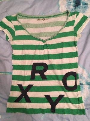 ROXY T-Shirt, grün-weiß, Größe M