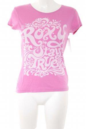 Roxy T-Shirt pink-rosé Motivdruck Casual-Look