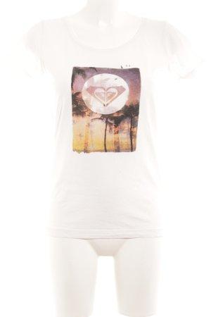 Roxy T-Shirt weiß Motivdruck sportlicher Stil