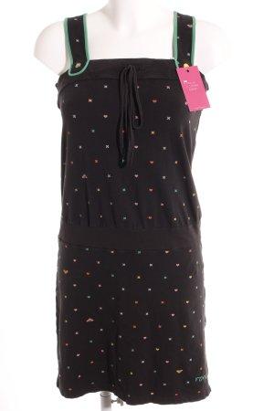Roxy Trägerkleid schwarz-hellgrün Kunstmuster Street-Fashion-Look