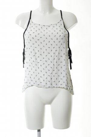 Roxy Trägertop wollweiß-schwarz abstraktes Muster Casual-Look