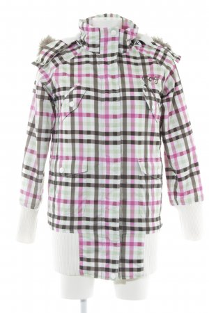Roxy Winter Jacket check pattern casual look