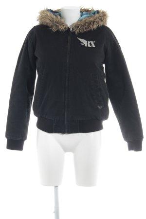 Roxy Winterjacke schwarz-sandbraun Street-Fashion-Look