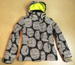 * ROXY * WInterjacke Skijacke Snowboardjacke 8K Regenfest schwarz weiß Gr XS