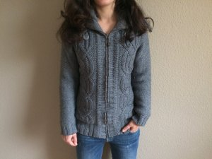 Roxy Woll-Strickjacke/Pullover, DK Heather Grey, Innenfutter, Gr. XS