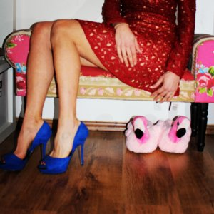 royal blaue Highheels