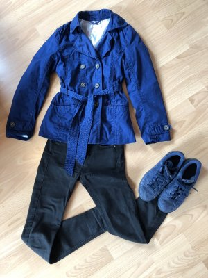H&M Pea Jacket dark blue
