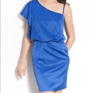 Royal Blue Jessica Simpson one-Shoulder Kleid