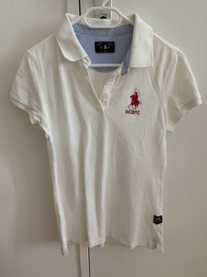 Royal Berkshire Polo Club Polo blanc-rouge