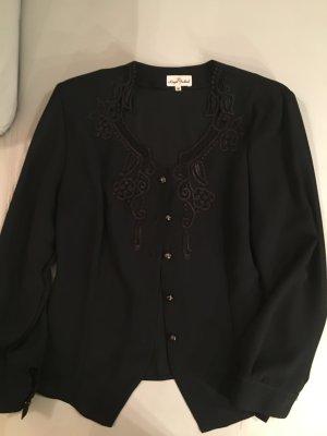 Royal Fashion festliche Bluse mit Stickerei, Gr. M, schwarz, wie NEU