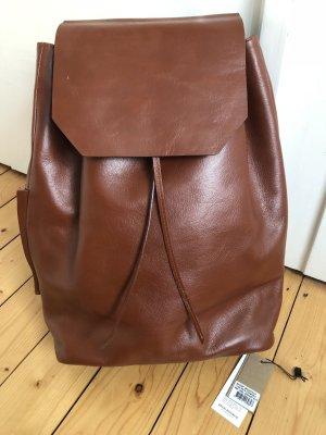 Royal Republiq Rucksack Backpack Shopper Tasche Leder cognac braun minimalistisch Trend
