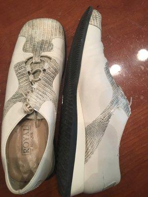 Royal Sneakers met veters wolwit-grijs Leer
