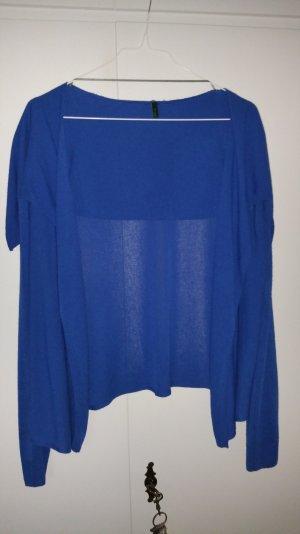 Royalblaue Benetton Jacke mit Wasserfallkragen