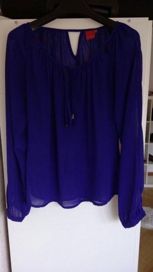 Royalblaue Bluse - look