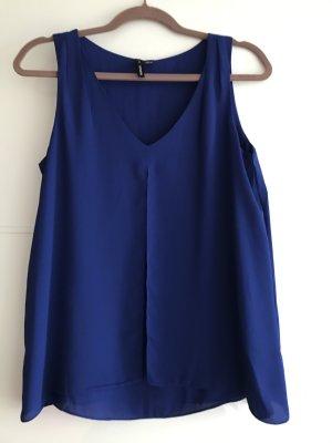 Royalblaue Bluse ohne Ärmel