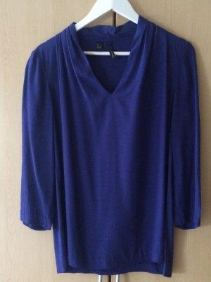 Royalblaue Bluse von Mango Suit