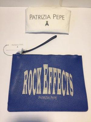 "Royalblaue Clutch Patrizia Pepe ""Rock Effects"" - neu!"