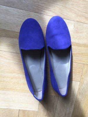Royalblaue Leder-Slipper von Boden