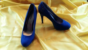Catwalk Platform Pumps blue