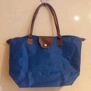 Royalblaue Sommertasche - Longchamp-Style