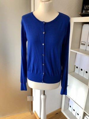 0039 Italy Cardigan tricotés bleu laine mérinos