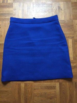 Hallhuber Miniskirt blue mixture fibre