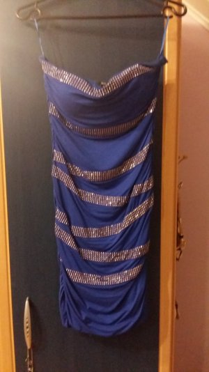 Royalblaues Kleid 38