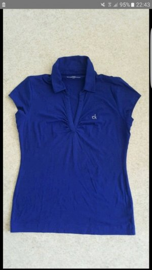 Royalblaues T-Shirt Calvin Klein
