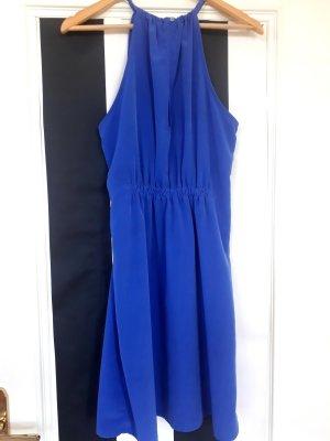Zara Basic Mini-jurk staalblauw Gemengd weefsel