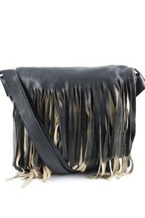 RPD Umhängetasche schwarz-sandbraun extravaganter Stil