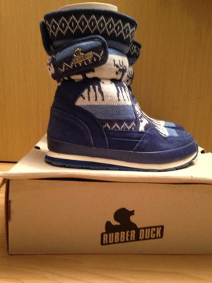 Rubber duck Winter Booties white-blue