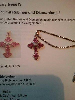 Rubinkreuz in 375er GG