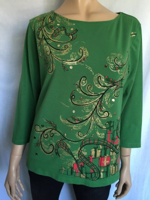 Ruby Rd. Shirt Gr. XL Grün grünes Weihnachten Christmas dreiviertelarm 3/4-Arm