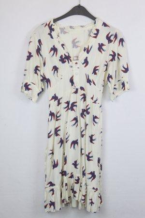 Ruby Rocks Kleid Blusenkleid Gr. L hellgelb Vögel (18/5/560)