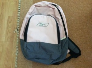 Reebok School Backpack black-pink polyester