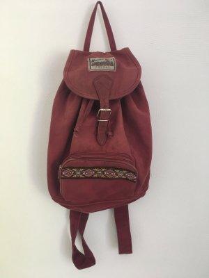 School Backpack dark red