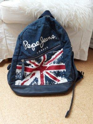 Pepe Jeans London School Backpack dark blue
