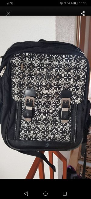 School Backpack white-black