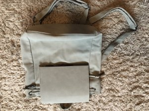 JustFab Laptop Backpack silver-colored