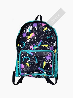Vintage School Backpack multicolored