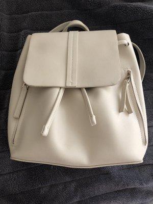 Zara Mochila escolar crema-blanco puro