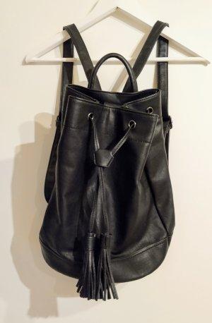 Even & Odd Sac seau noir faux cuir
