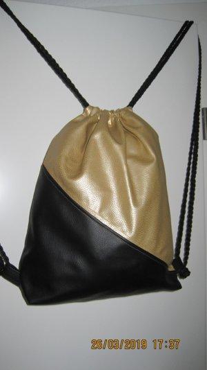 Rugzaktrolley zwart-goud Synthetische vezel