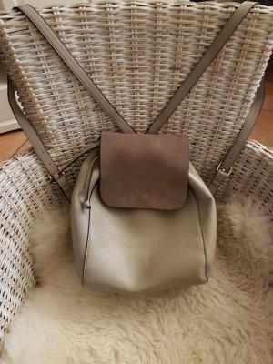 Zara Woman Mochila gris Imitación de cuero