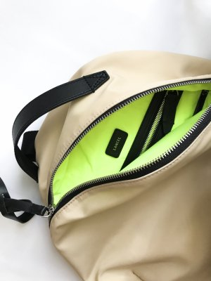 Lancel Sac à dos pour ordinateur portable beige clair-beige fibre textile