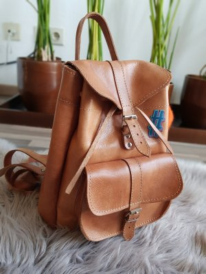 Backpack cognac-coloured leather