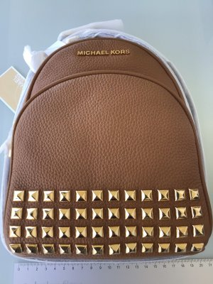 Michael Kors Kindergarden Backpack light brown leather