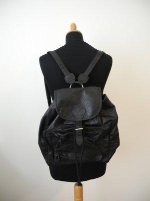 Backpack black leather